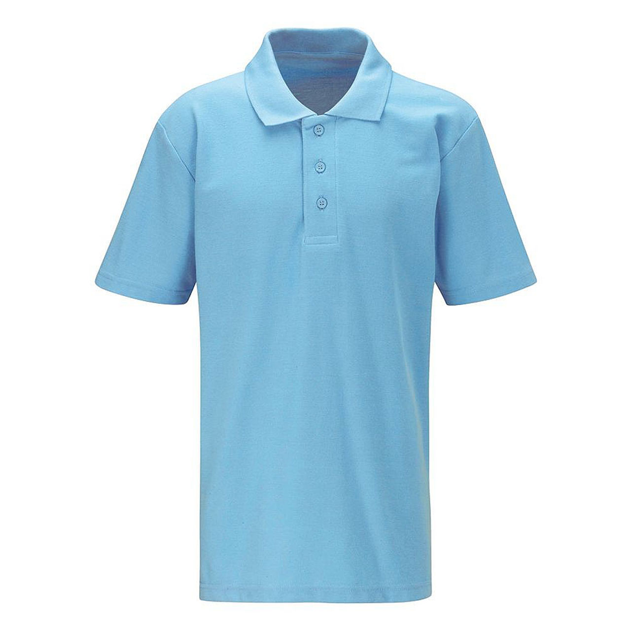 Embroidered Schoolwear Sky Blue Polo Shirt