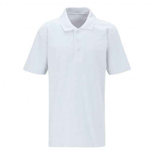 Embroidered Schoolwear White Polo Shirt