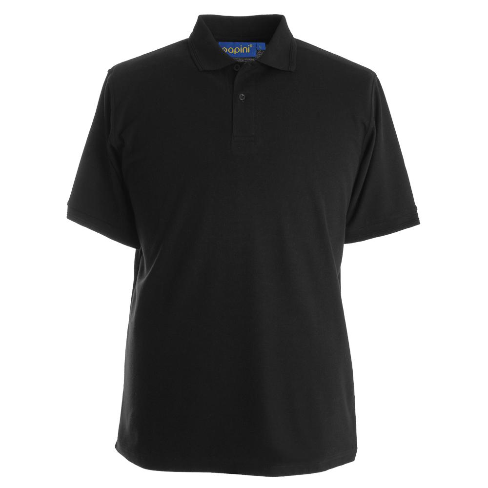 Embroidered Polo Shirts - Black