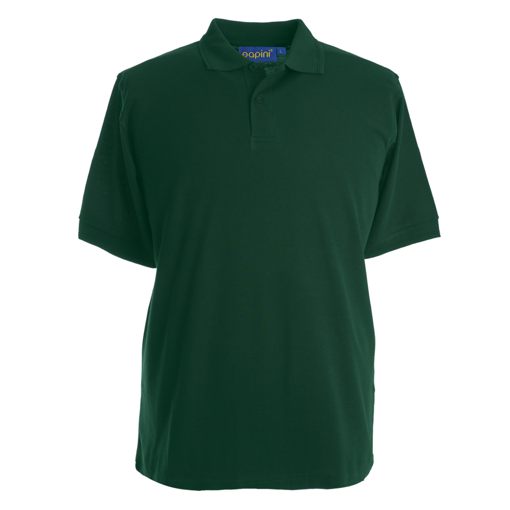 Embroidered Polo Shirts - Bottle Green