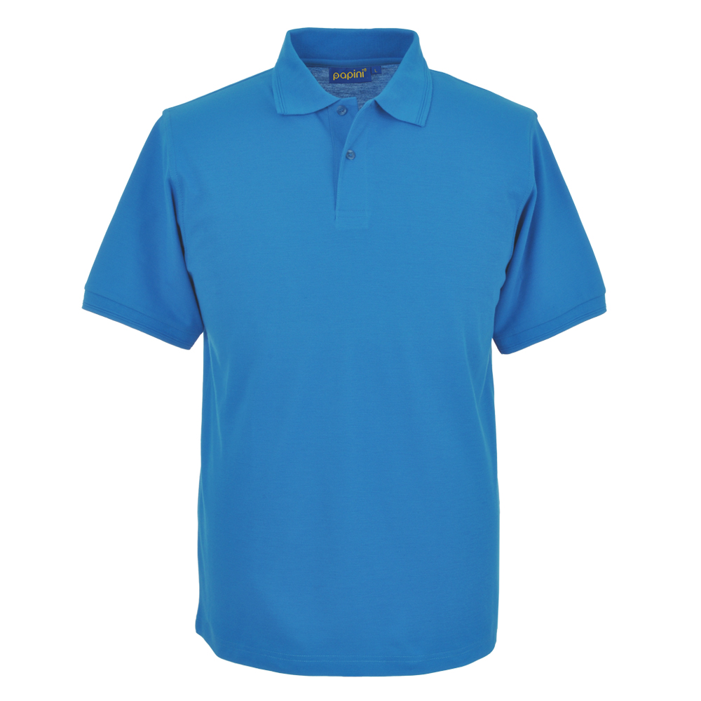 Embroidered Polo Shirts - Cyan