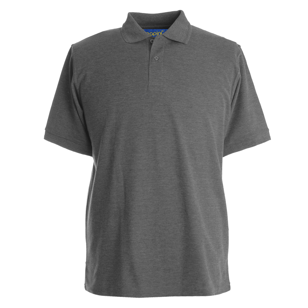 Embroidered Polo Shirts - Dark Grey