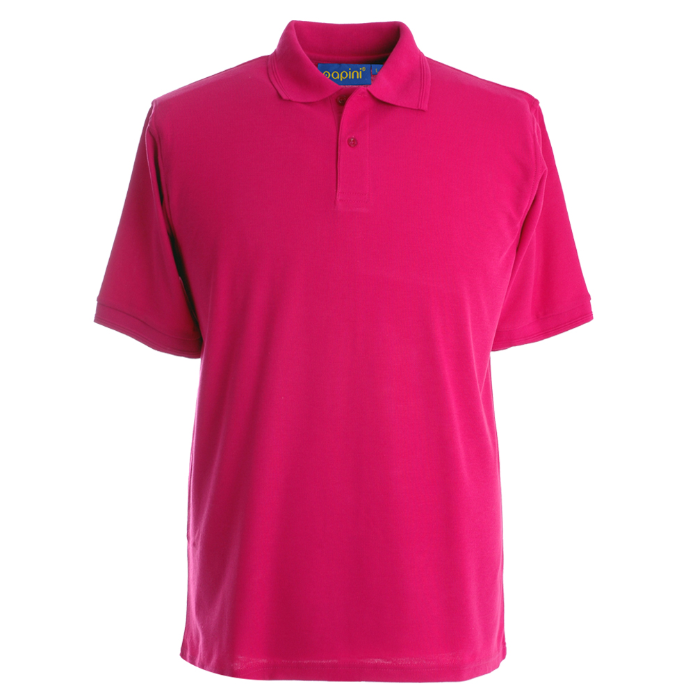 Embroidered Polo Shirts - Fuchsia Pink