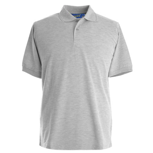 Embroidered Polo Shirts - Grey Marl