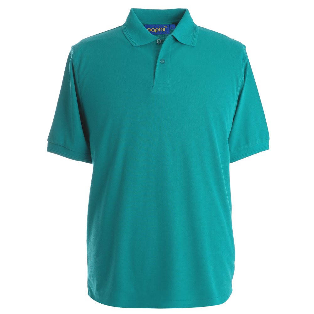 Embroidered Polo Shirts - Jade Green