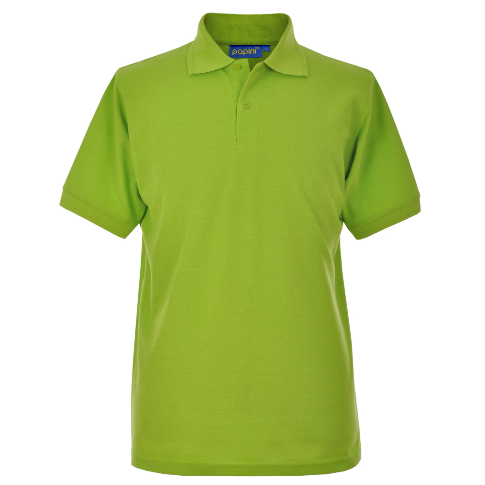 Embroidered Polo Shirts - Lime Green