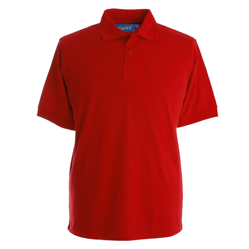 Embroidered Polo Shirts - Red
