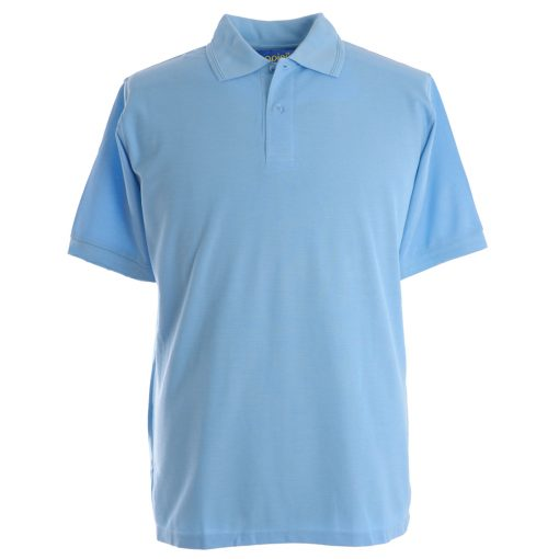 Embroidered Polo Shirts - Sky Blue