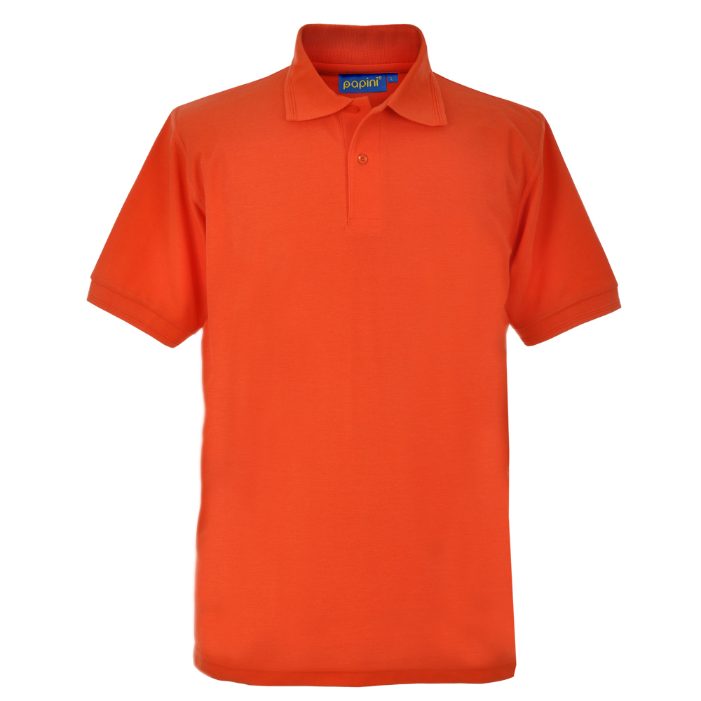 Embroidered Polo Shirts - Tangarine Orange