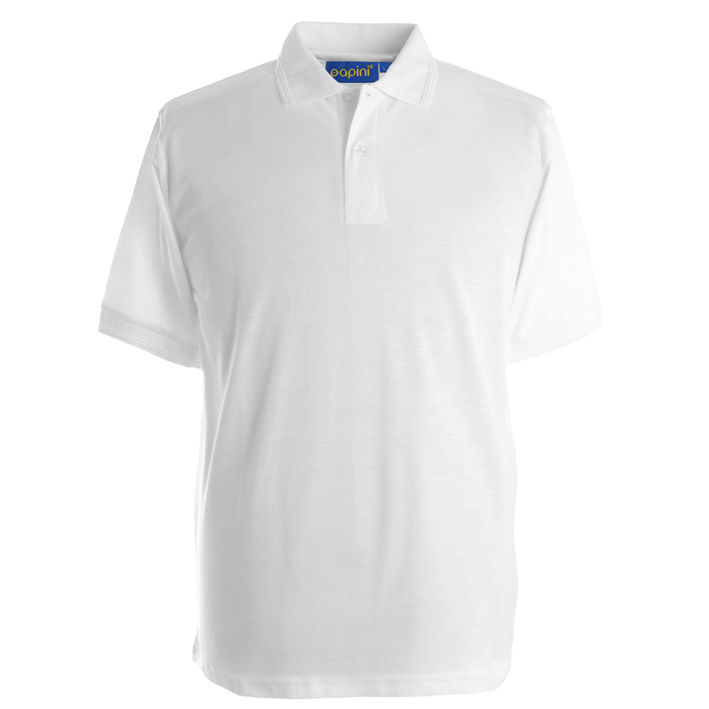 Embroidered Polo Shirts - White