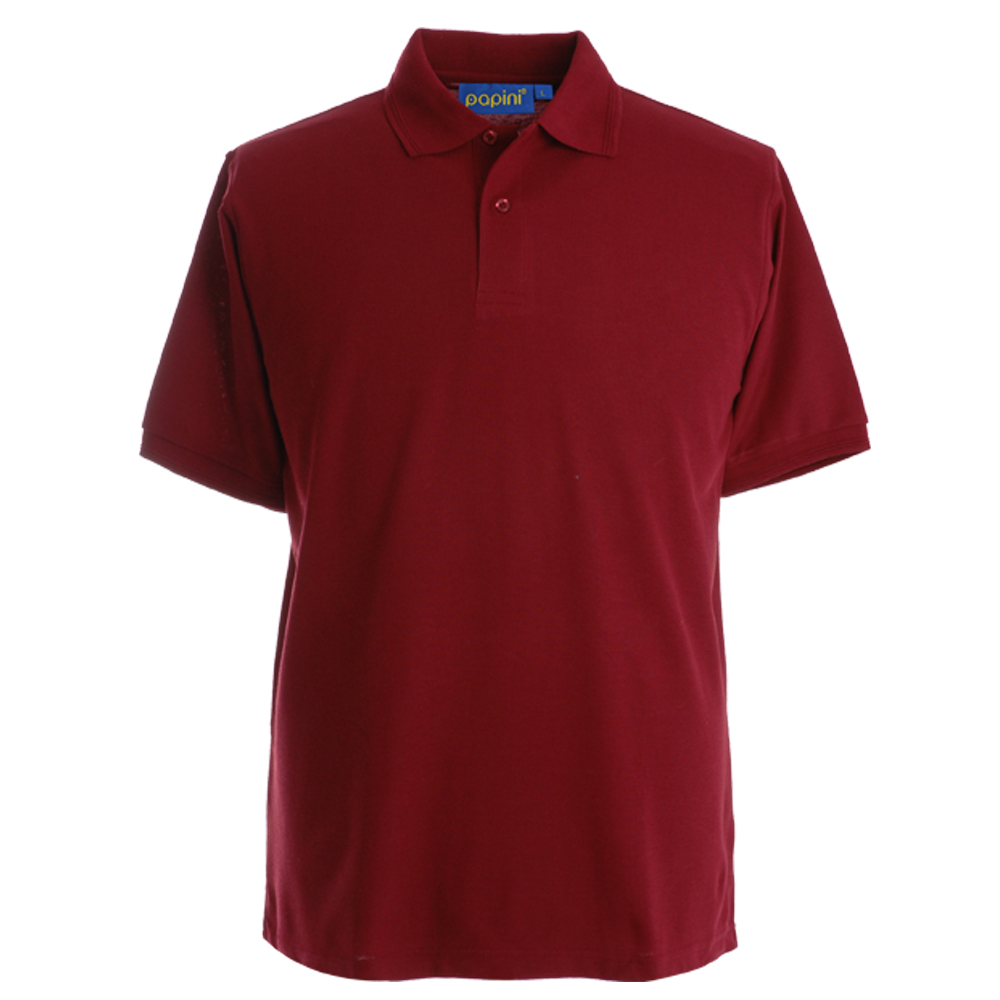 Embroidered Polo Shirts - Wine