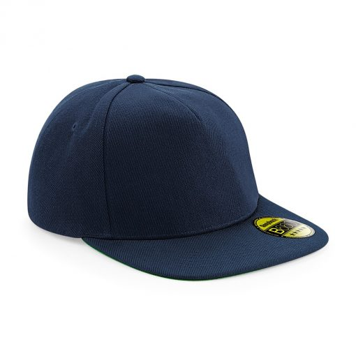 Flat Peak Snapback Cap - Navy Blue - Embroidered by Jageto Embroidery and Print in Braintree, Essex in the UK