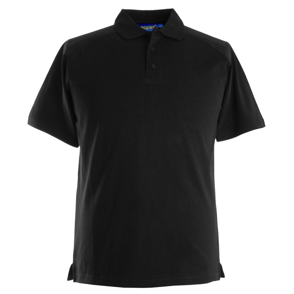 Embroidered Dri Polo Shirts - Black