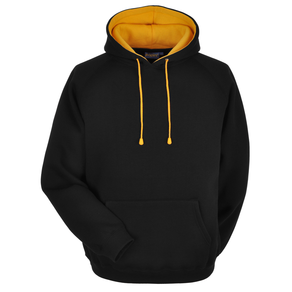 Black and Gold Embroidered Personalised Hoodie