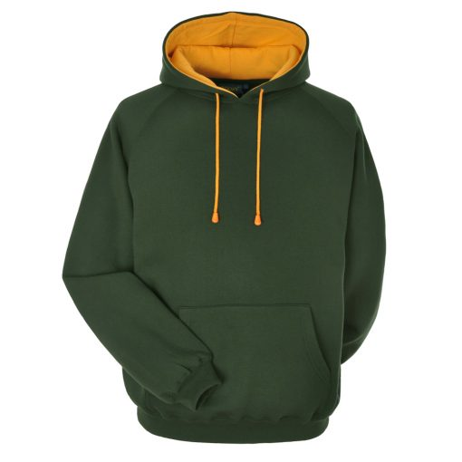 Bottle Green and Gold Embroidered Personalised Hoodie