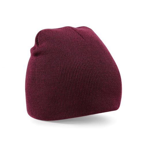 Burgundy Embroidered Personalised Beanies from Jageto Embroidery and Print in Essex, UK