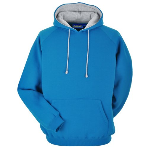 Cyan and Grey Embroidered Personalised Hoodie