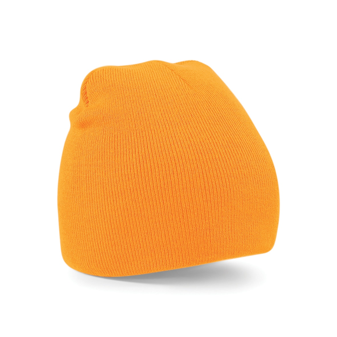 Fluorescent Orange Embroidered Personalised Beanies from Jageto Embroidery and Print in Essex, UK