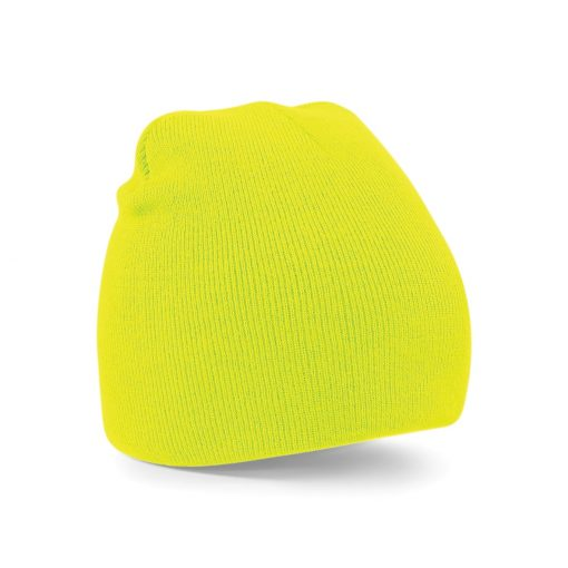 Fluorescent Yellow Embroidered Personalised Beanies from Jageto Embroidery and Print in Essex, UK