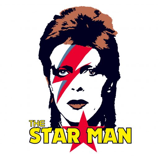 Fun and Funky Printed T-Shirts from Jageto Embroidery and Print in Braintree, Essex in the UK - David Bowie Star Man Printed T-Shirt