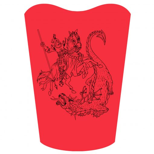 Fun and Funky Printed T-Shirts from Jageto Embroidery and Print in Braintree, Essex in the UK - George and Dragon Printed T-Shirt