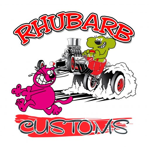 Fun and Funky Printed T-Shirts from Jageto Embroidery and Print in Braintree, Essex in the UK - Rhubarb and Customs Printed T-Shirt