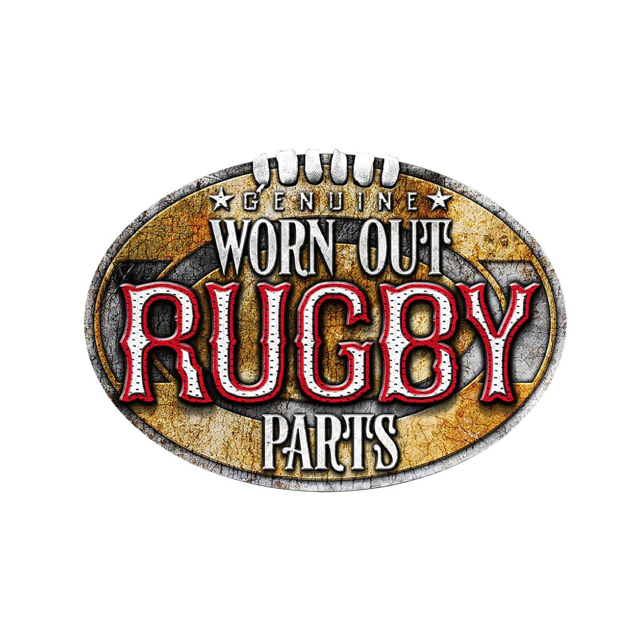 Fun and Funky Printed T-Shirts from Jageto Embroidery and Print in Braintree, Essex in the UK - Genuine Worn Out Rugby Parts Printed Printed T-Shirt