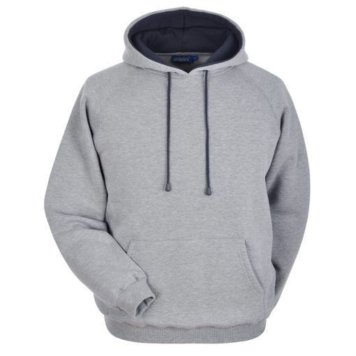Grey and Navy Embroidered Personalised Hoodie