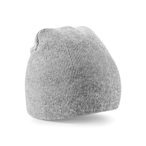 Heather Grey Embroidered Personalised Beanies from Jageto Embroidery and Print in Essex, UK