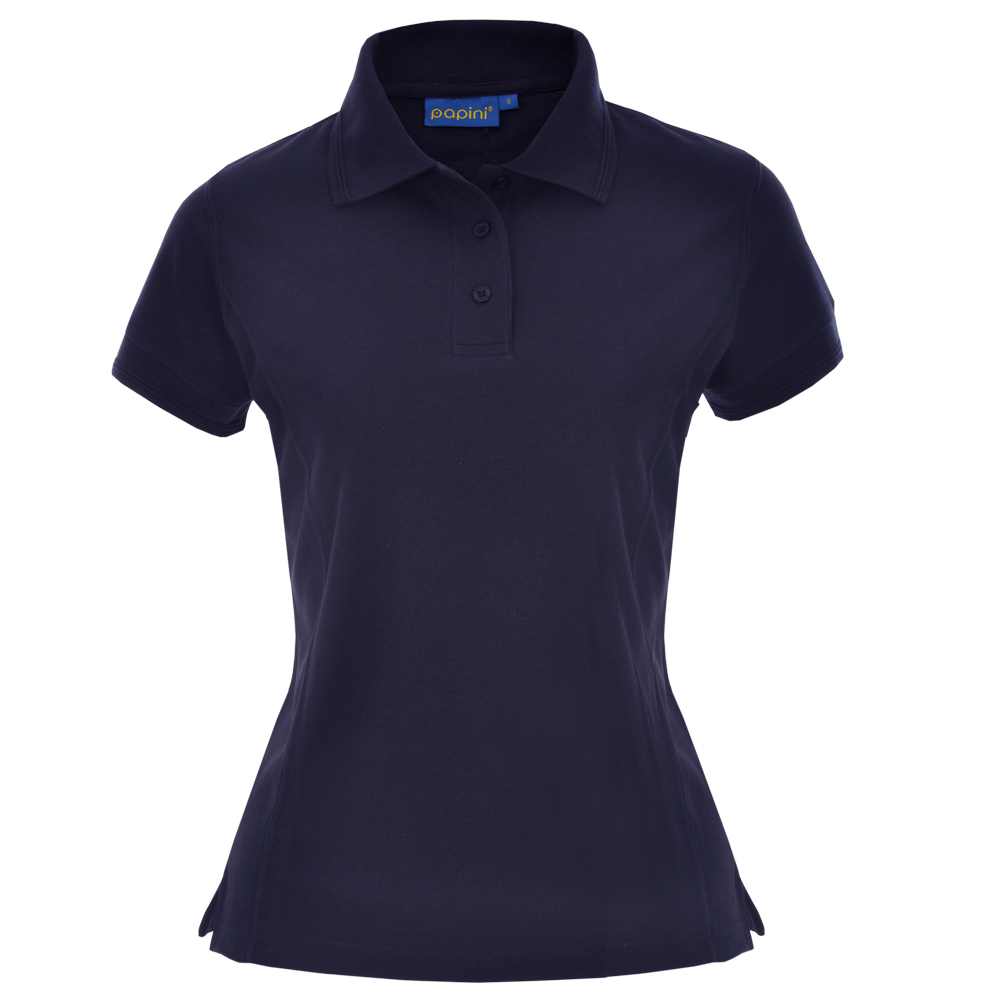 Ladies Fit Embroidered Polo Shirts - Navy Blue