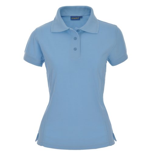 Ladies Fit Embroidered Polo Shirts - Sky Blue