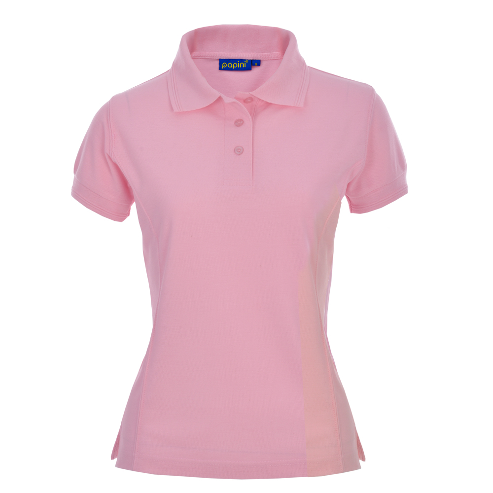 Ladies Fit Embroidered Polo Shirts - Soft Pink