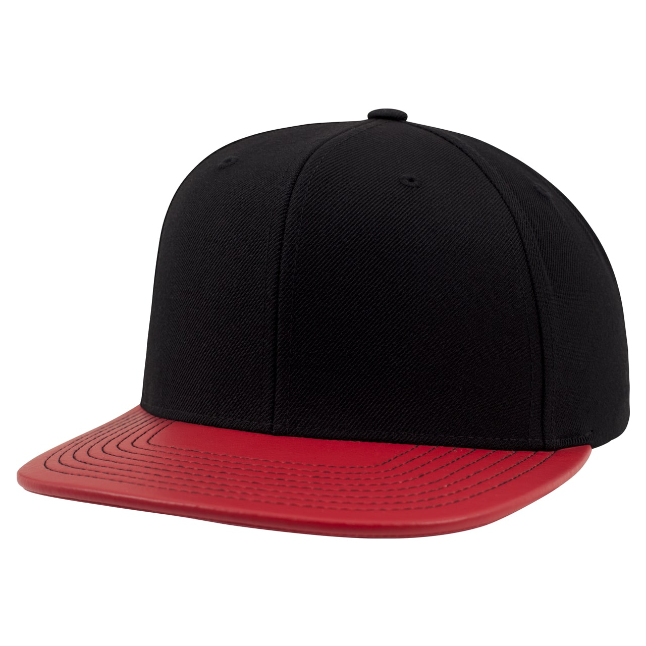 Metallic Visor Snapback Cap - Red