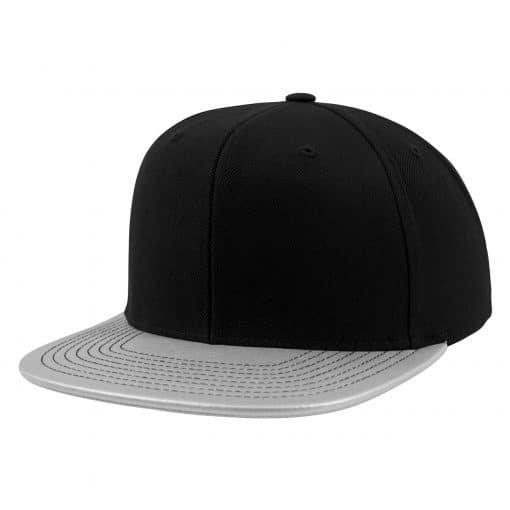 Metallic Visor Snapback Cap - Silver