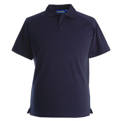 Embroidered Dri Polo Shirts - Navy Blue