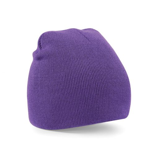 Purple Embroidered Personalised Beanies from Jageto Embroidery and Print in Essex, UK