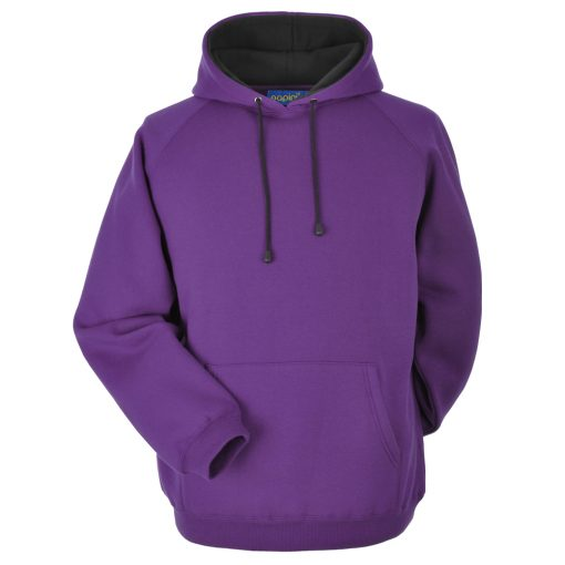 Purple and Black Embroidered Personalised Hoodie