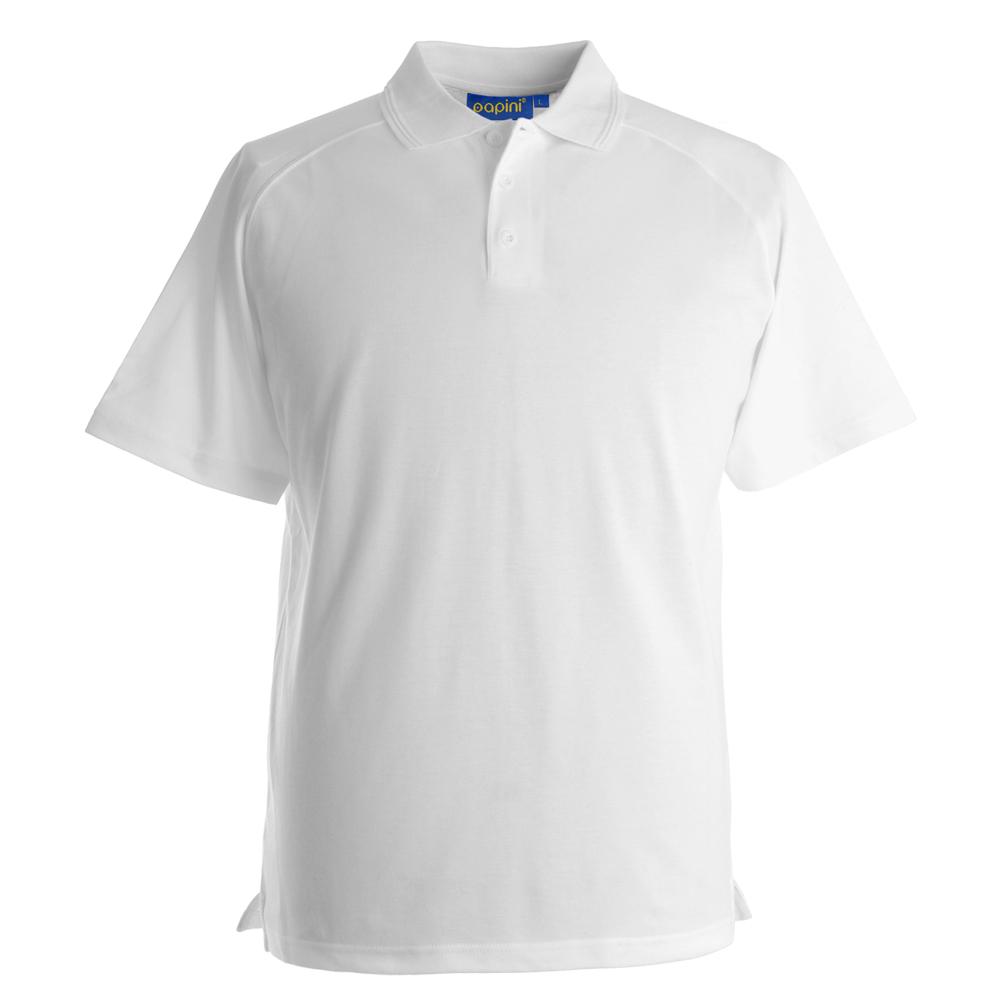 Embroidered Dri Polo Shirts - White