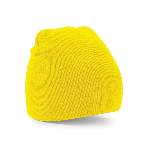 Yellow Embroidered Personalised Beanies from Jageto Embroidery and Print in Essex, UK